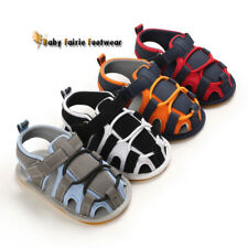 Baby Boy Crib Shoes Infant Kids Summer Sandals Child Toddler PreWalker Trainers