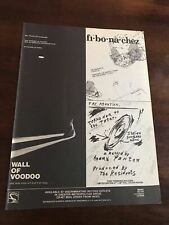 1982 Vintage 8X11 Promo Print Ad For New Albums By Wall Of Voodoo,The Fibonaccis