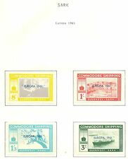 ENGLAND LOCAL STAMPS   GUERNSEY - SARK  4  ST.  1961  EUROPA **