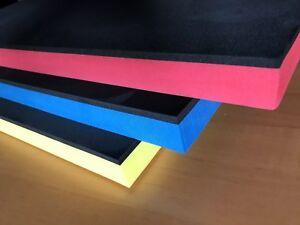 (66,00 EUR/m²) Hartschaumstoff Shadow Board Werkzeugeinlage Schaum (gr-bl)