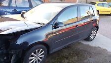 2007 VW GOLF MK5 1.9 TDI BXE BLACK LC9Z GEARBOX JCR, 5 DOOR, WHEEL NUT, BREAKING