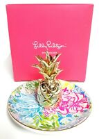 Lilly Pulitzer Cheek to Cheek Pineapple Ring Holder Trinket Dish Multi-Color New