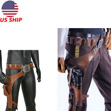 XcoserHan Solo PU Leather Belt Cosplay Prop Leg Pack Gun Holster For Men US Ship