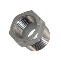 "3/4"" Male x 1/2"" Female Thread Reducer Bushing Pipe Fitting 304 Stainless steel"