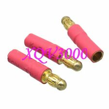 3pcs Great Planes Adapter 3.5MM Female to 3.5mm Male Bullet Connector