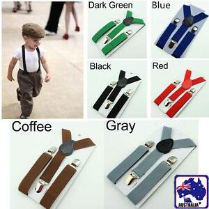 Kids Y-Back Toddler Clip-on Elastic Child Suspenders Adjustable Braces CSUSP 06