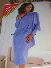 BUTTERICK #5541 - LADIES GORGEOUS DRESS w/FRONT OVERLAY & DRAPE PATTERN 14-18 FF