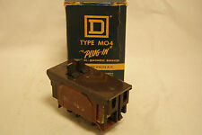 Square D Type MO4 Plug In Circuit Breaker 2 Pole 15 Amp Tandem with Box 120/420V
