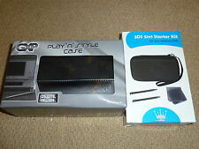 NINTENDO 3DS STARTER KIT in Black CONSOLE CARRY GAME CASE STYLUS BRAND NEW! Lot