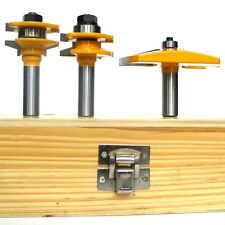3pc 15° Straight Raised Panel & Beveled Rail & Stile Router Bit Set sct-888