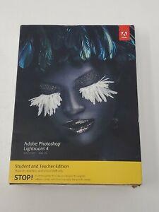 NEW! Factory sealed CIB Adobe Photoshop Lightroom 4 Student and Teacher Edition
