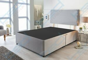 Fabric Divan Bed Base & Headboard Only 3FT Single 4FT6 Double 5FTKing SuperKing