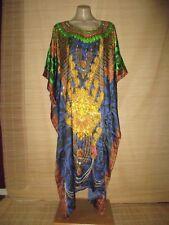 Embellished Digital Print KAFTAN beach HIPPY boho DRESS One size (14-24 best) #2