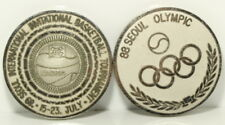 1988 1989 Seoul Olympic International Basketball Tournament Medals