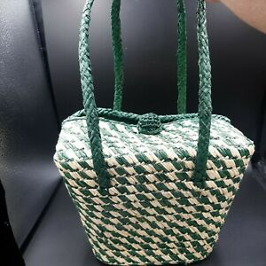 VINTAGE STRAW PURSE HAND MADE BAG BY JOSEF ITALY