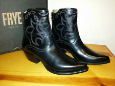 $358 NEW Womens 7M FRYE Shane Embroidered Short Boot Black