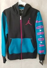 b6c3f007ba7 Air Jordan youth 8-10 YRS Hoodie Sweater Small JumpMan Teal Pink, Black