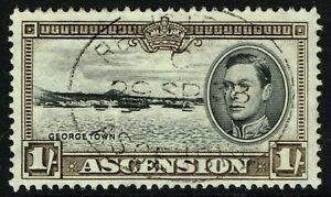 SG 44 ASCENSION 1938 - 1/- BLACK & SEPIA (perf. 13.5) - USED