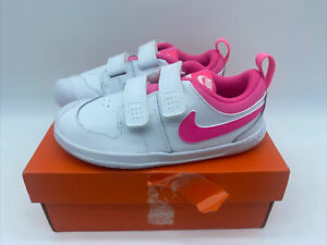 Girls Nike Pico 5 Infant Trainers White Link Size 9.5
