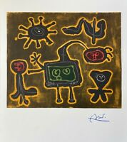 Joan Miro Beautiful Signed 1958 Print from his Graphic Collection