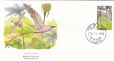 TANZANIA 1989 2 FIRST DAY COVERS / WILDLIFE / FROG AND BIRD