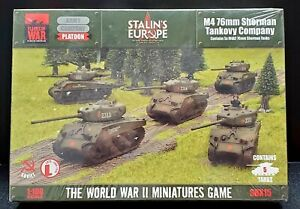 New - FOW - M4 76mm Sherman Tankovy Co. - Soviet - Stalin's Europe - SBX15