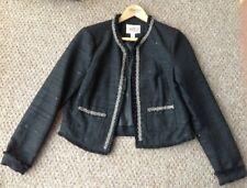Forever 21 Forever21 Elegant Sequin Bead Jacket Size Medium Black Blazer