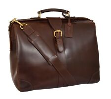 Doctors Leather Briefcase Lawyer Business Rep Professionals Brown Gladstone Bag