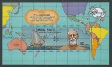 Samoa UPU Centenary William Willis raft Mini sheet  MUH