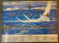 "1993 AIR FORCE THUNDERBIRDS ""Thunder On The River"" poster 24""x18"""