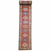 Classic World Rugs Extra Long Kazak Runner 100% Wool(Size 3.3 X 37.8) Brral-6588