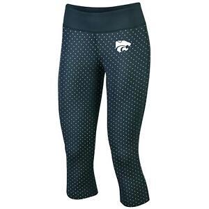 New Womens Kansas State Wildcats Champion Workout Capri Pants Small spandex