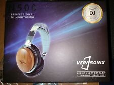 DJ Headphones VeriSonix Hybrid Electro Static Cherry Wood 6-50,000Hz