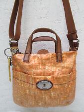 AUTHENTIQUE sac à main  en cuir  FOSSIL  TBEG vintage bag