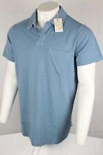 Lucky Brand Men's Venice Burnout Polo Shirt XLT & 3XL Blue 7Y60010