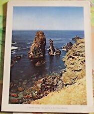 1954 la Côte Sauvage les Aiguilles de Port Cotton Belle-Ile départ.56 mer océan