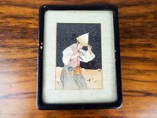Vintage 1940s Paul Jacoulet Color Woodblock Surimono Coree Nuit de Neige Signed