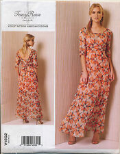 VOGUE SEWING PATTERN 1502 MISSES 6-14 LINED MAXI DRESS WITH SCOOP NECKLINE
