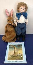 "16"" Dolls By Jerri Limited Porcelain ""Velveteen Rabbit And Boy"" Book W/ Box Set"