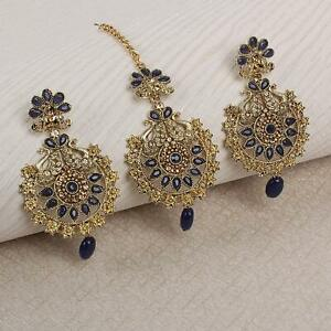 Traditional Wedding Wear Kundan Earring & Mang Tikka Bollywood Look Party Wear