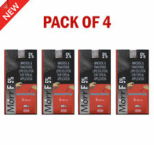 4 Pack x New Morr F 5% Hair Regrowth Solution DHT Blocker 60ml Prevents Baldness