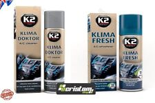 K2 KLIMA DOKTOR + KLIMA FRESH Air con Bomb Cleaner Foam A/C Remove Odor