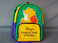 DISNEY'S WONDERFUL WORLD OF READING CHILD'S SCHOOL BACKPACK, NO BOOKS INCLUDED