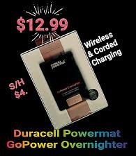 Duracell Powermat GoPower Overnighter WIRELESS Backup Battery Smart Phone/Tablet