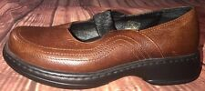Dansko Mary Jane Brown Leather Strap Platform Wedge Sandals Shoes Sz 39