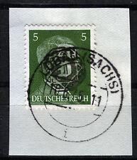 Löbau 6 Briefstück, 5 Pf. Hitler mit Aufdruck