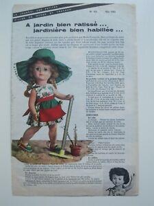 PAGE POUPEES MODES ET TRAVAUX - PETITCOLLIN / MAI 1963