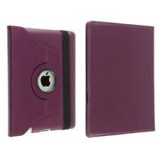 360 Degree Rotating PU Leather Case for Apple iPad 2, 3, 4 - Purple