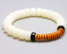 UK Natural White Bodhi Seed Buddha Tibetan Prayer Bead Bracelet for Men Women