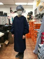 Surgical/Isolation Gown Washable/Reusable for Use in Hospital, Navy Blue Color